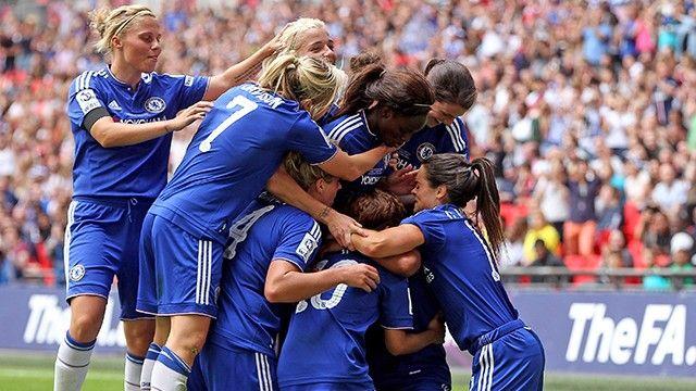 Chelsea Ladies berhasil memenangi trofi pertama di sepanjang sejarah mereka di Wembley. Gol kemenangan dicetak oleh Ji So-Yun...