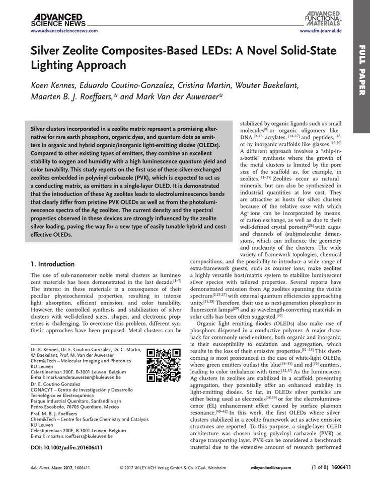 Silver Zeolite Composites-Based LEDs: A Novel Solid-State Lighting Approach