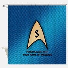 MONOGRAM Star Trek Blue Insignia Shower Curtain for