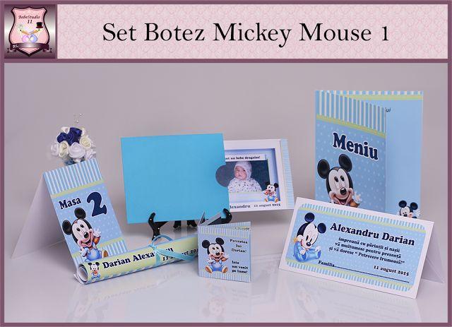 Set Personalizat Botez cu tema Mickey Mouse