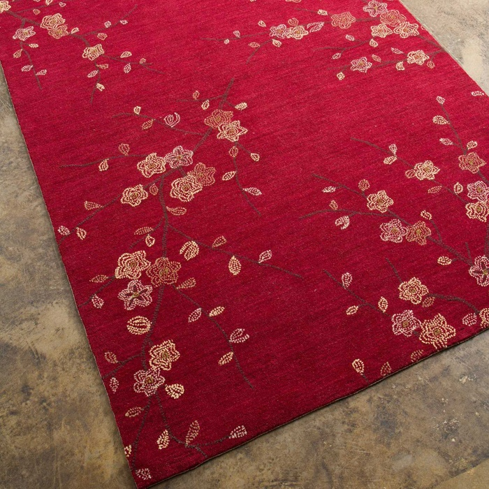 Cherry Blossom Area Rug Part - 45: I Pinned This Cherry Blossom Rug In Red From The Jaipur Rugs Event At Joss  U0026 Main!