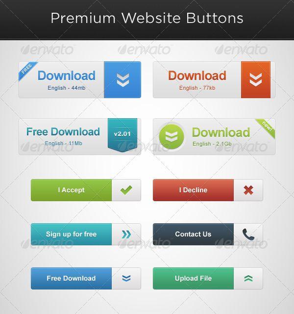 Симпатичный и постой набор кнопок #веб-дизайн #кнопки #дизайн #сайты