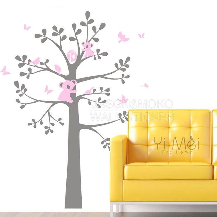 Kawaii Cartoon Koala Bear Vinyl Wall Stickers Decal Tree Branches Birds Butterfly Daycare Nursery Kids Baby Room Home Decoration dream home -- AliExpress Affiliate's Pin. View the item in details by clicking the VISIT button