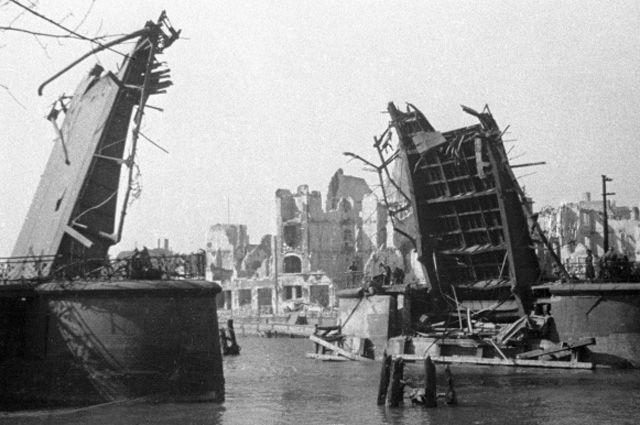 Дровяной мост, Кенигсберг после взятия советскими войсками.