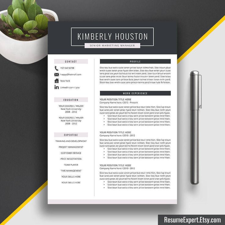 Chronological Resume Samples%0A Resume Template   CV Template   Word Resume Template   Professional Resume    Creative CV