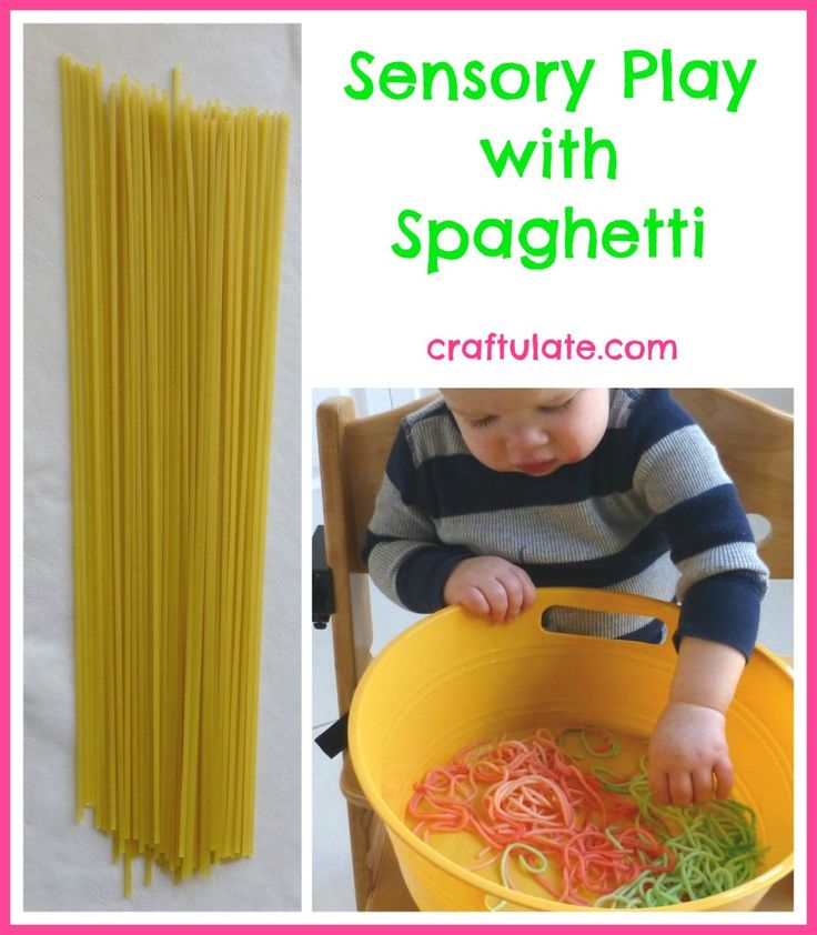 Sensory Play with Spaghetti - Craftulate