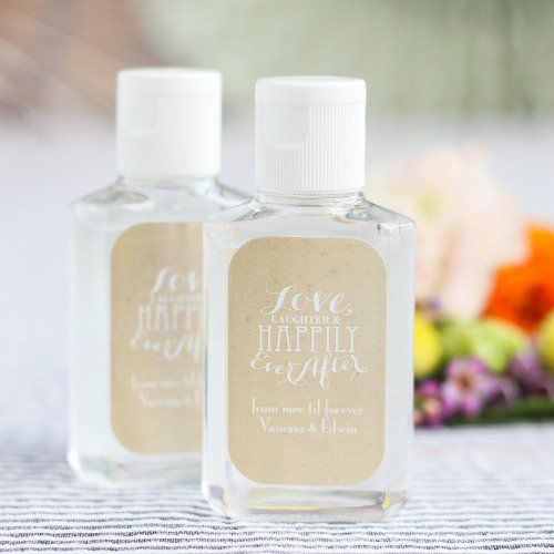 Personalized Hand Sanitizer Spring Wedding Favors Wedding