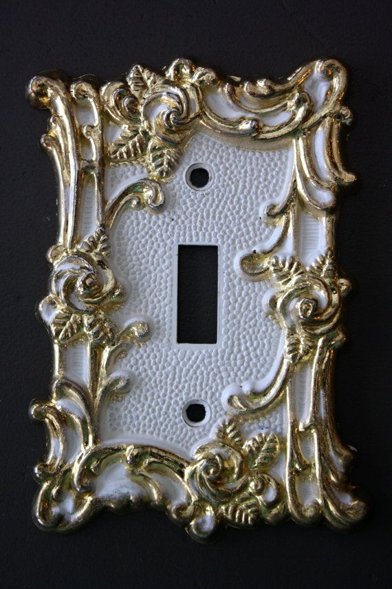 Hollywood Regency metal Light Switch 1967 Paris by BeggarsBanquet, $10.00
