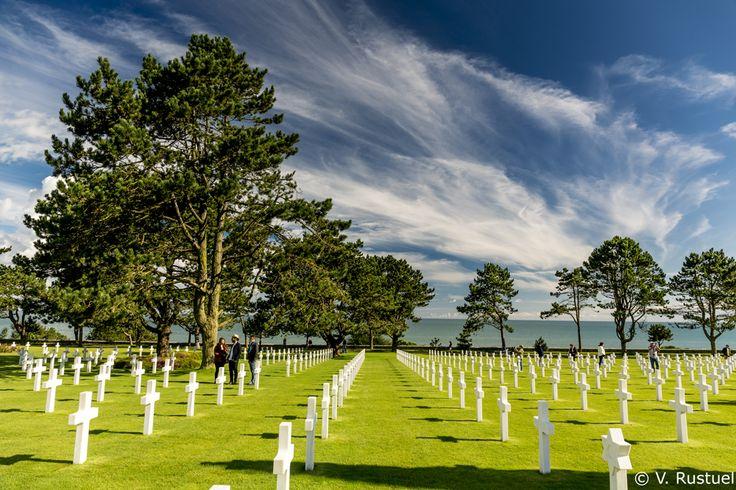 Le cimetière américain de Colleville sur Mer. Un lieu incontournable sur les plages du débarquement.