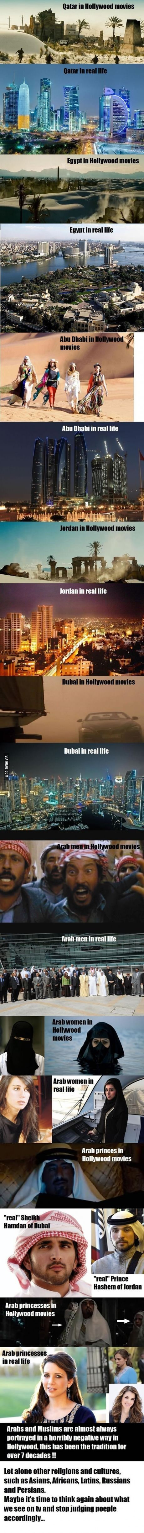 Arabs in Hollywood Vs Reality. Everything from fashion, people, and cities. #9Gag #funny #humor