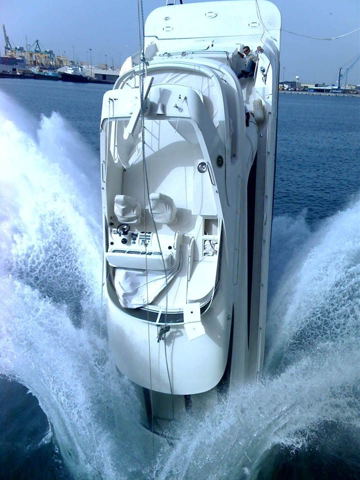 How NOT to launch a yacht...