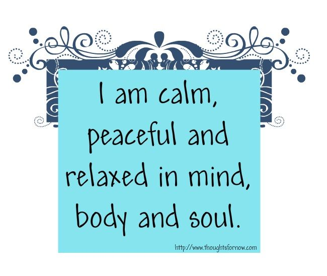 how to keep mind calm and peaceful