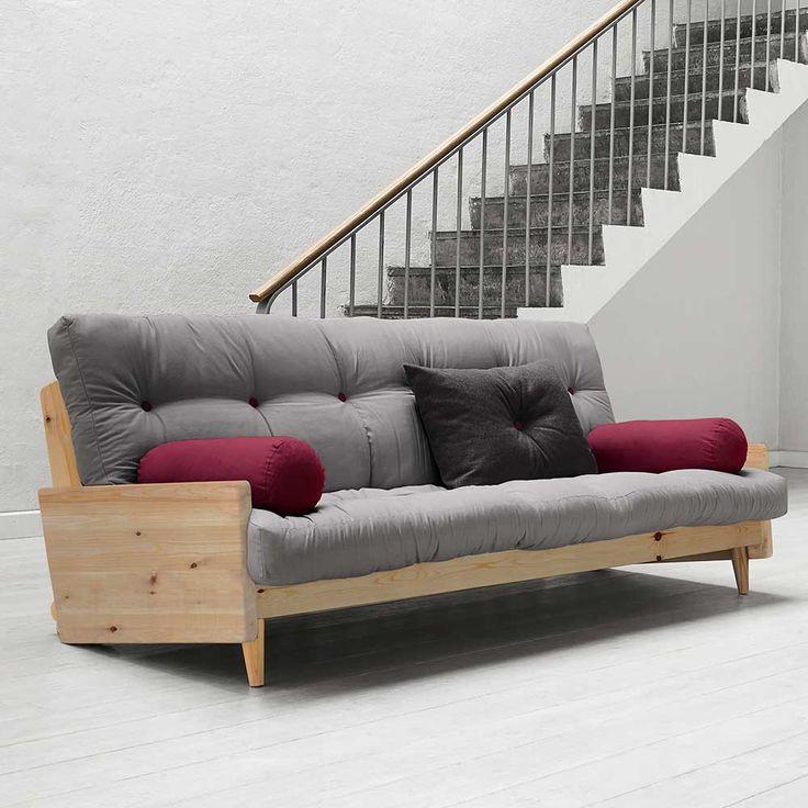 Sofa mit Futon Matratze aus Kiefer  auf Pharao24.de kaufen. Klasse Schlafsofa im skandinavischen Stil. Bequem und trendy! Hier ansehen: http://www.pharao24.de/sofa-bacoas-aus-kiefer-massivholz-mit-futon-matratze-5-teilig.html#pint