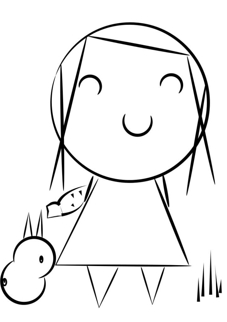 chubby bunny coloring pages - photo#41