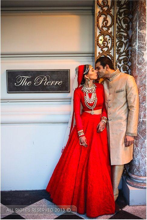 Punjabi#wedding#red#lehenga