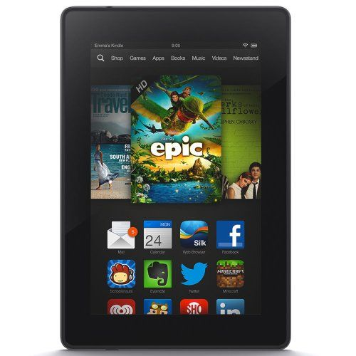 Kindle Fire HD 7, HD Display, Wi-Fi, 8 GB - Includes Special Offers 1280x800 high definition LCD display with over one million pixels. Fast 1.5GHz dual-core processor. Ultra-fast web browsing over built-in Wi-Fi. Robust e-mail and calendar support for Gmail, Outlook, and more.  #Kindle #AmazonDevices