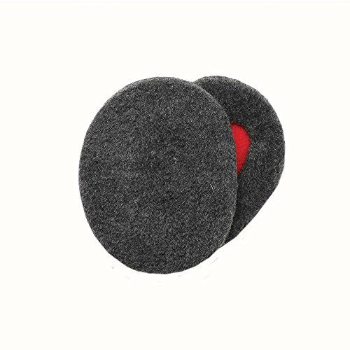 Sprigs Earbags Bandless Ear Warmers / Fleece Earmuffs with Thinsulate - Gray Small