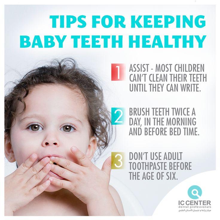Tips for keeping baby teeth healthy.