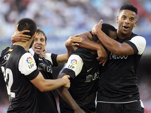Fabrice Olinga se convirtió en el jugador más joven en anotar en la liga española (EFE)