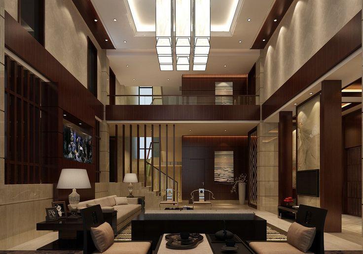 China-villa-interior-decoration-3D-view | Wall Paneling ...
