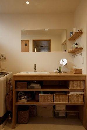 造作洗面台 収納 - Google 検索