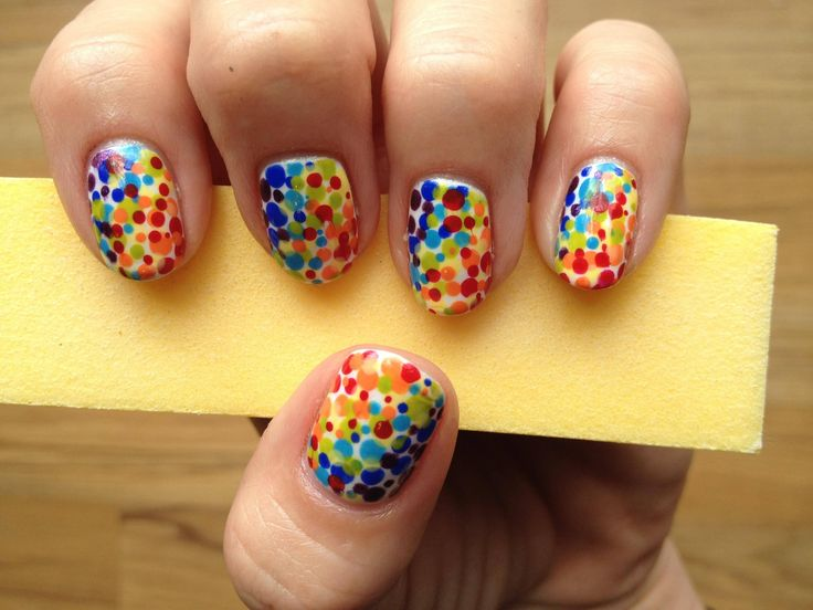 rainbow fun with dotting tools