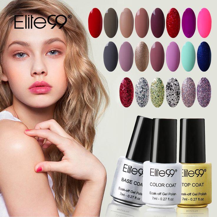 Elite99 7ml Nail Polish Bright Colorful Color Polish Gel Lacquer UV LED Soak Off Nail Art Nail UV Gel polish