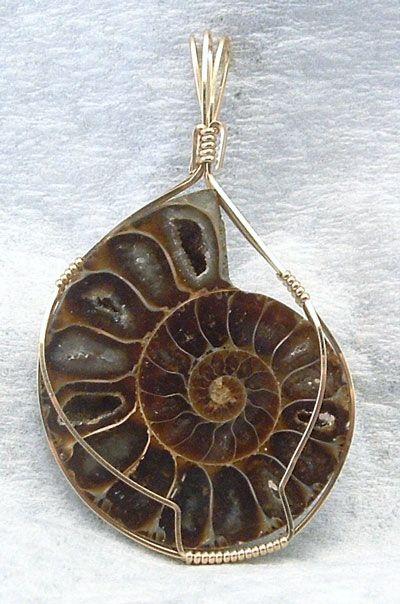Wire Wrapped Ammonite Tutorial Unique Wirewrap Pendants