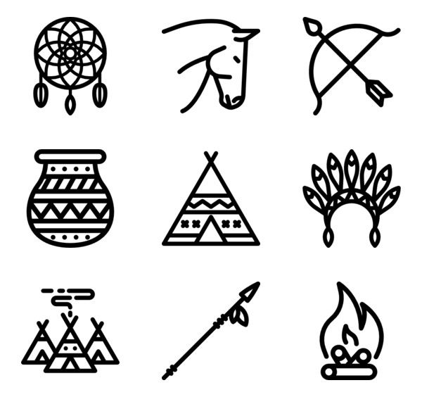 86 Icon Packs Of Native American Free Icon Set All Icon Icon Font