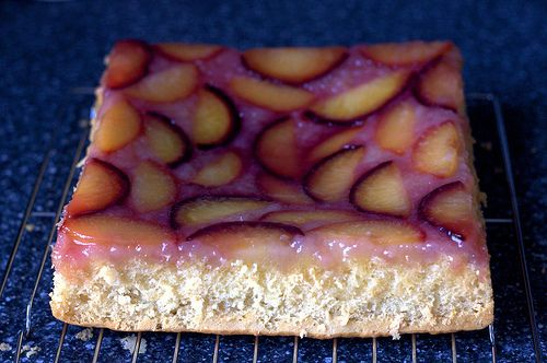When's plum season, again? I can hardly wait to try this!!! concave plum kuchen by smitten, via Flickr
