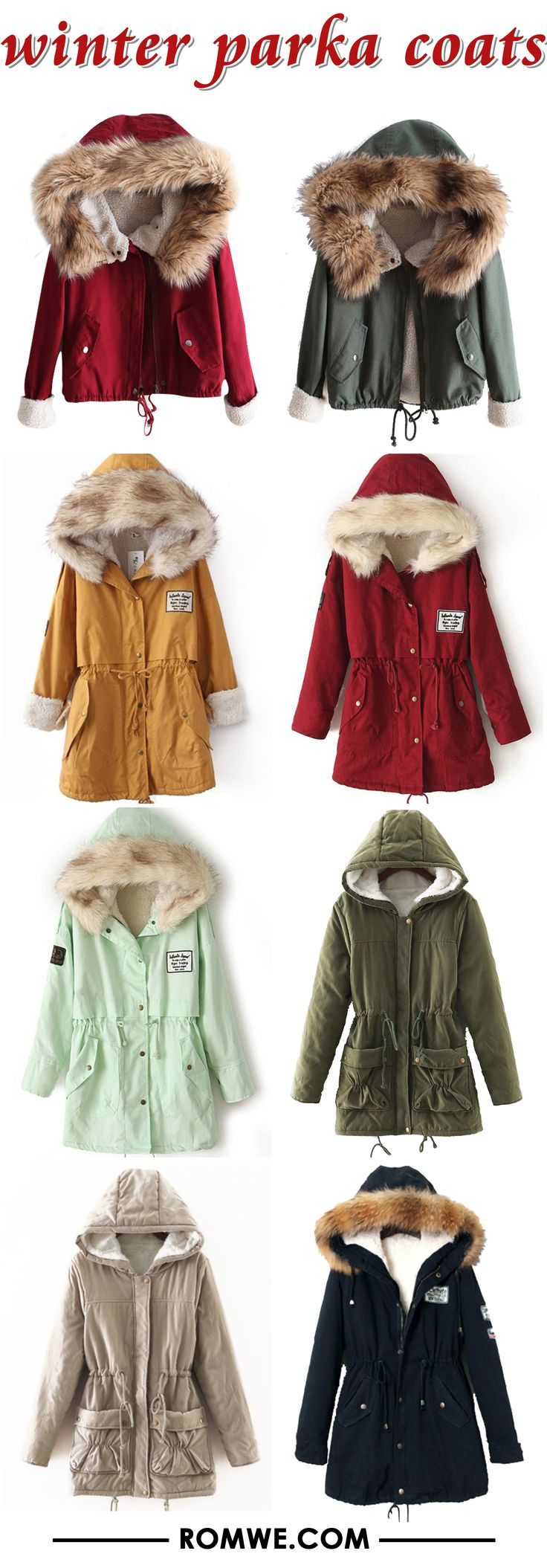 black friday sale - winter warm parka coats from romwe.com