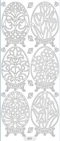 Starform Peel Off Stickers - 899B - Eggs - Black    wonder if these patterns could be used with the stained glass technique?