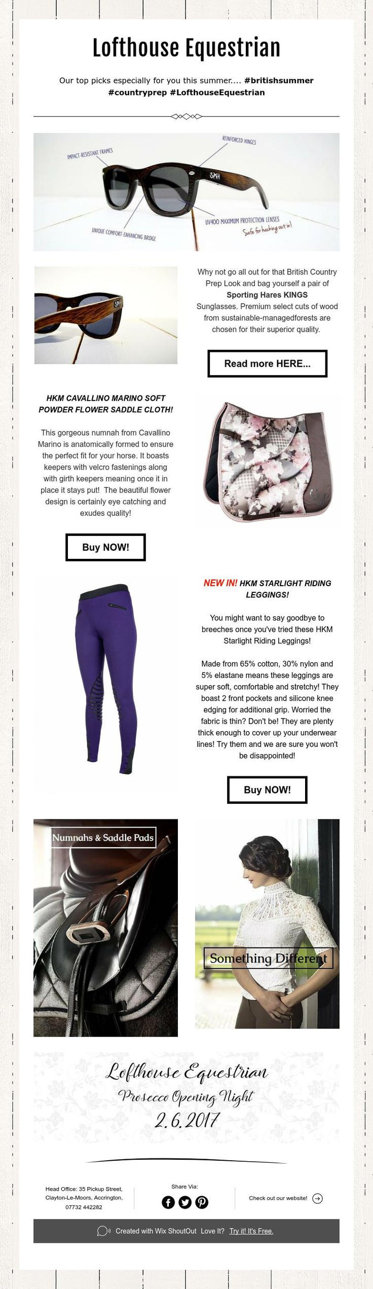 Our tops picks especially for you this summer.... #LofthouseEquestrian