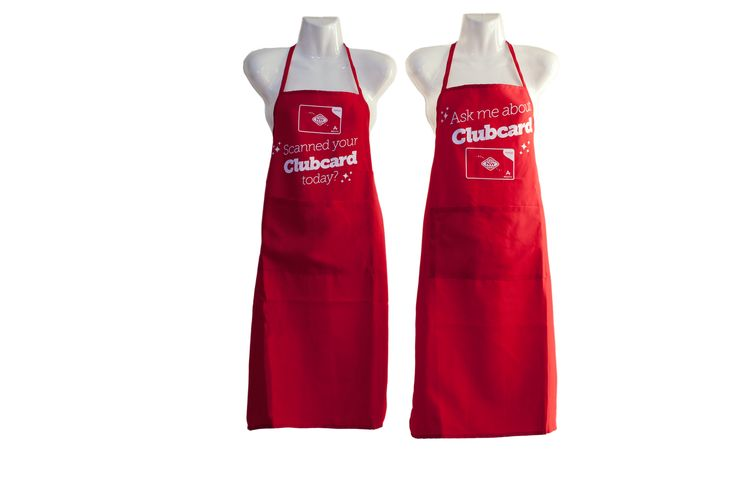 JustONE engaged with us to custom make these aprons for New World staff to wear during the launch of the new Clubcard.  They created a visual impact in store, allowing shoppers to learn about the Clubcard for the first time.