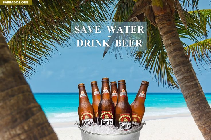 Save Water - Drink Beer :)    #Barbados #beer