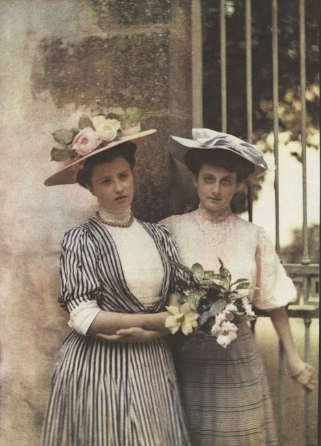 French Vintage and Antique Photos in Color Autochrome