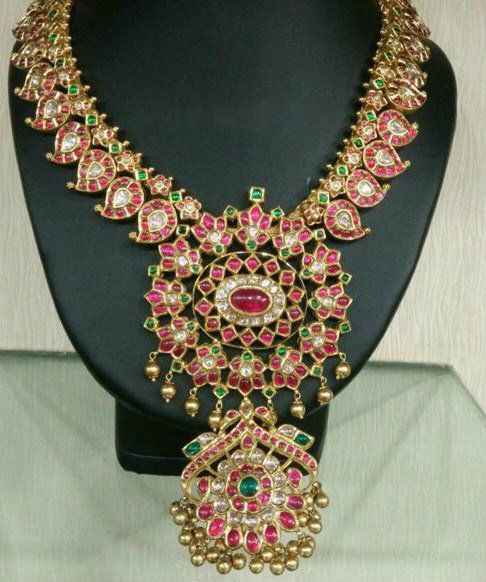 Two Step Mango Necklace - Jewellery Designs