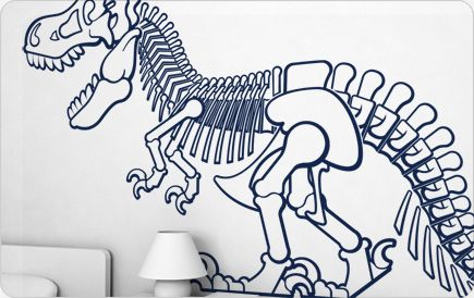 Baby Room Wall Art: The Coolest Wall Decals Ever.  T-Rex
