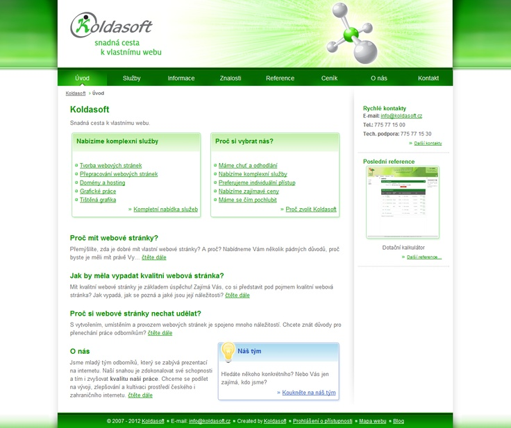 Design of Koldasoft company website