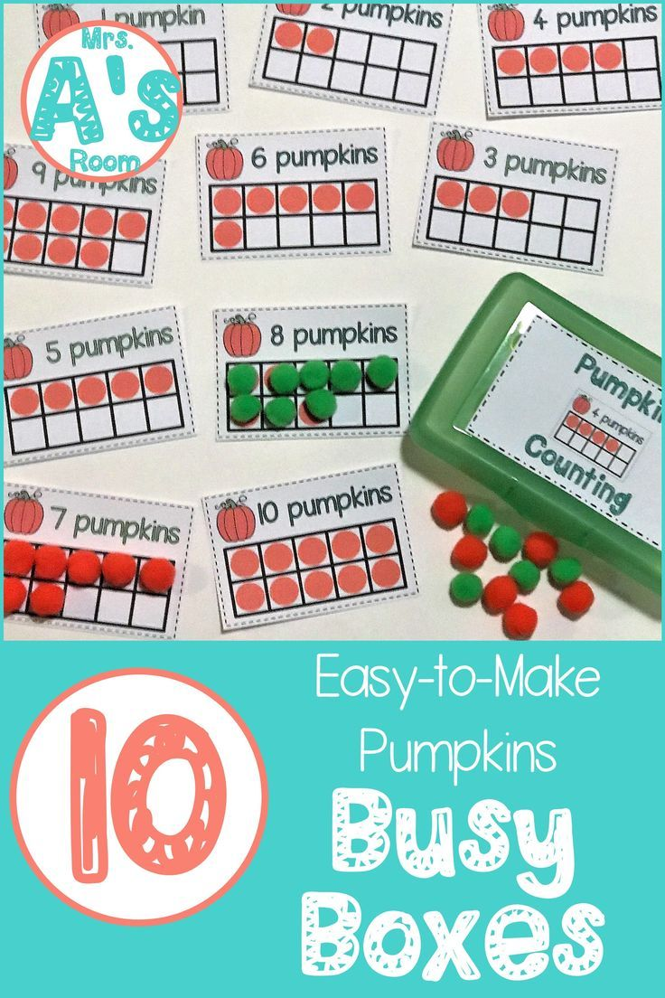 Ten Easy-to-Make Pumpkins Busy Boxes | Education | Pinterest ...
