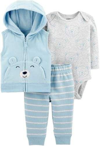 2398cabce Carters Baby Boys 3-pc. Bear Vest Clothing Set   Baby & Infant wear ...
