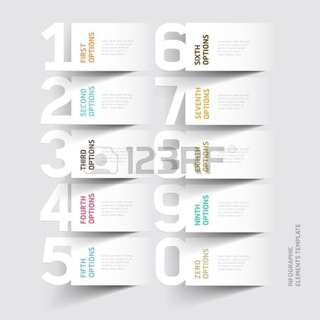 Abstract infographics number options template. illustration. can be used for workflow layout, diagram, business step options, banner, web design photo