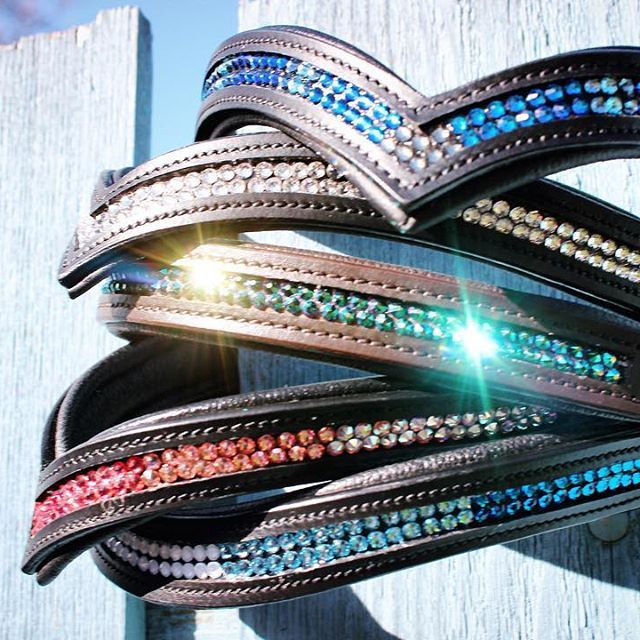 Order your custom crystal browband for your horse! You pick the colors, leather…