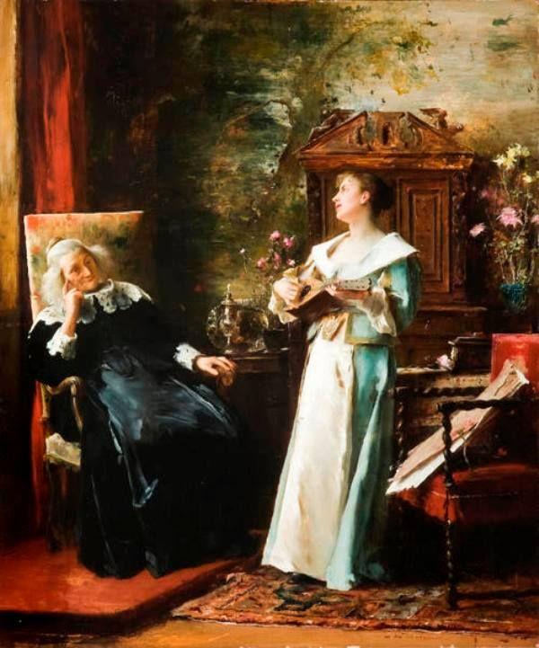 Munkácsy Mihály (1844-1900) - Öreganyám