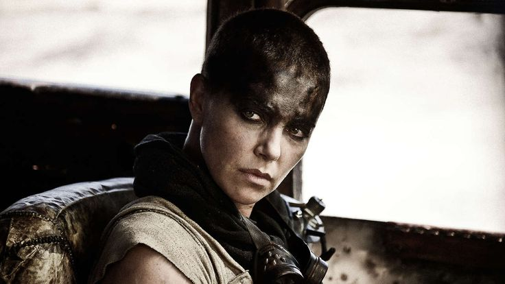 Charlize Theron -  Mad Max: Fury Road-how does this woman still look so beautiful without any hair?! Look at those eyes!
