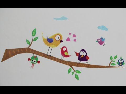 WallTola Funny Birds On Branch Wall Sticker by ColStiWal installation video -  #birds #birding #bird_watchers_daily #animal #birdwatching #pets #nature_seekers #birdlovers Dog Training – The Perfect Pooch System!  Click HERE! How to install wall decals. Installation instructions by WallTola Funny Birds On Branch Wall Sticker on ColStiWal  Buy Sticker :   Amazon    ... - #Birds
