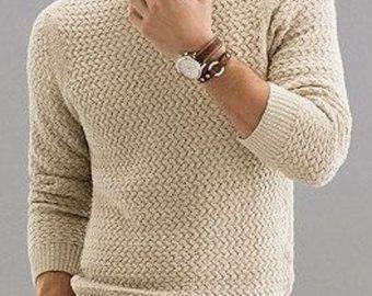 HECHOS a pedido con cuello en v suéter de cuello alto hombres hombres de suéter cardigan suéter tejido a mano de cuello redondo hombres hechos a mano de ropa que hace punto con cable
