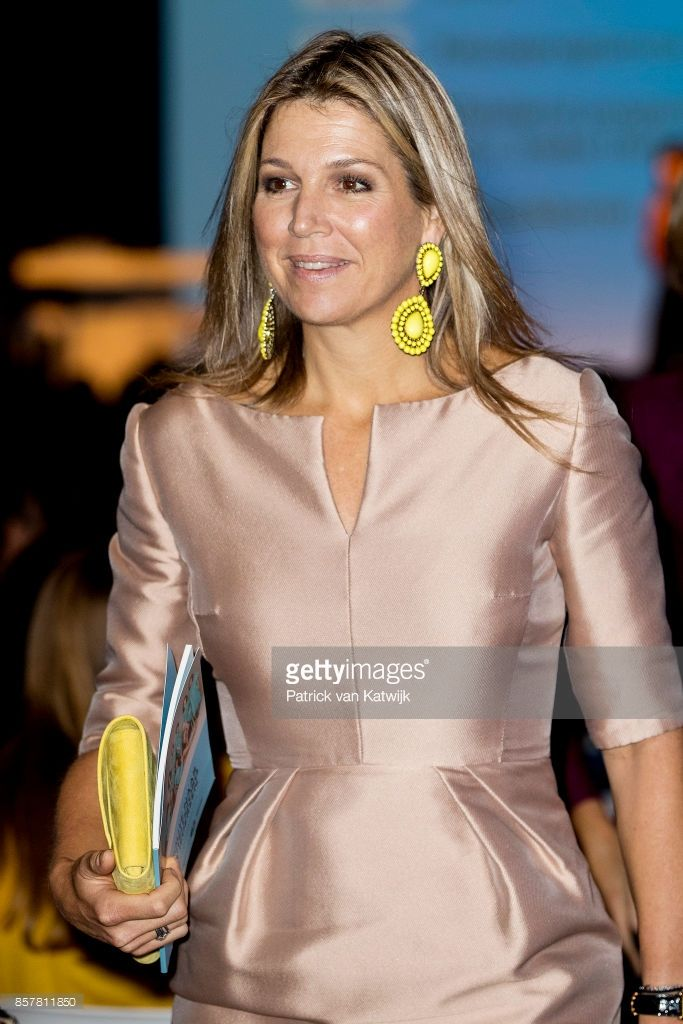 Queen Maxima attends the congress Gender and health of WOMEN Inc. in the Rijtuigenloods on October 5, 2017 in Amersfoort, Netherlands. During the congress the latest developments on research, prevention, diagnosis and treatment in gender sensitive healthcare are central.