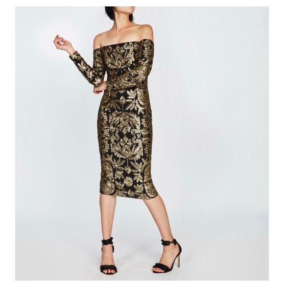 Nicole Miller Dresses & Skirts - Nicole Miller Tarnished Floral Sequin Dress