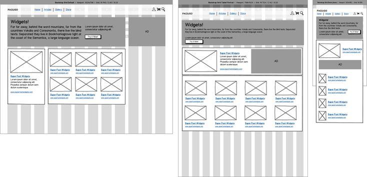 Image result for Wireframes